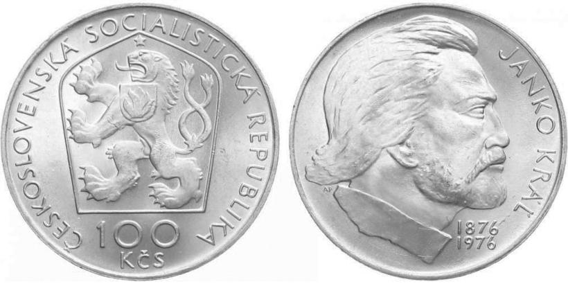 100 Koruna 1976 - Janko Kráľ