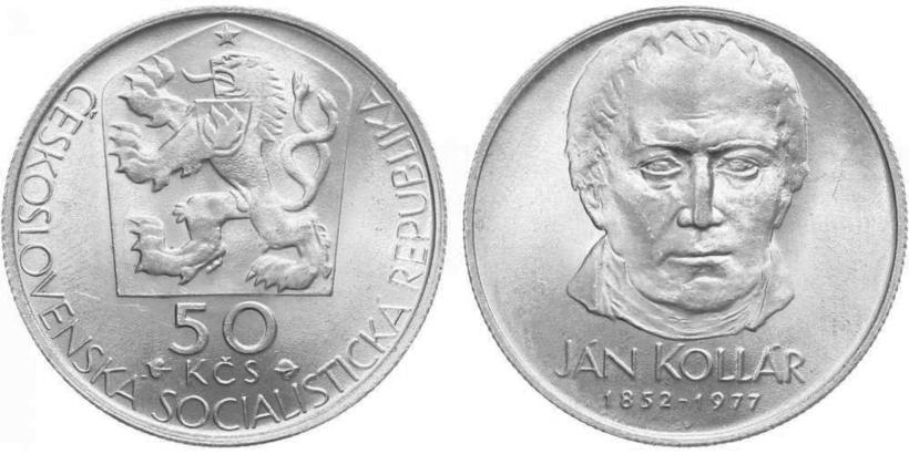 50 Koruna 1977 - Ján Kollár