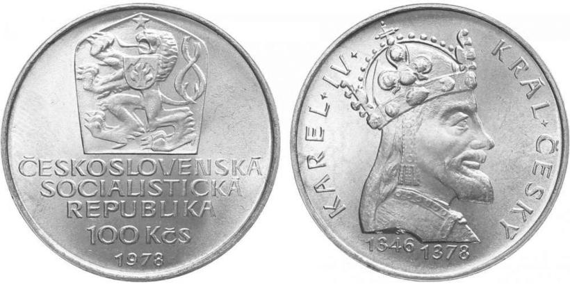 100 Koruna 1978 - Karel IV.