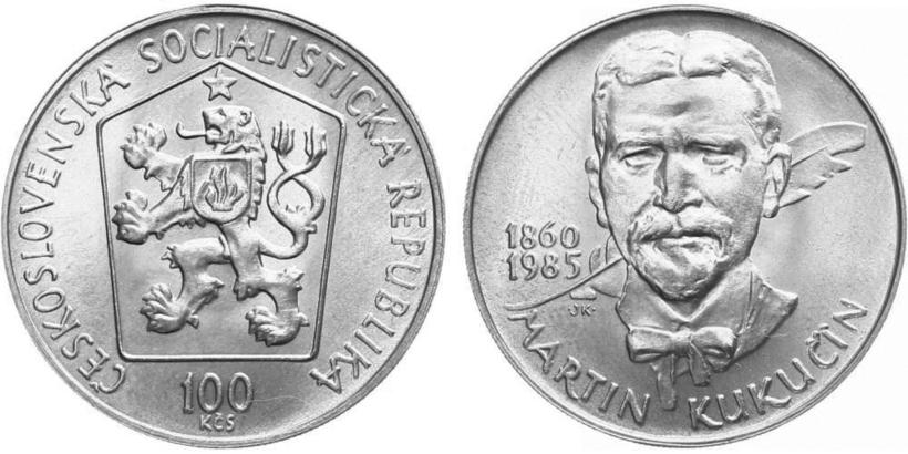 100 Koruna 1985 - Martin Kukučín
