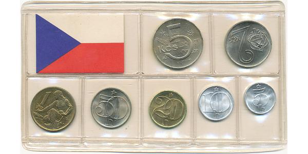 Ročníková sada mincí 1980