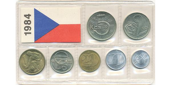 Ročníková sada mincí 1984