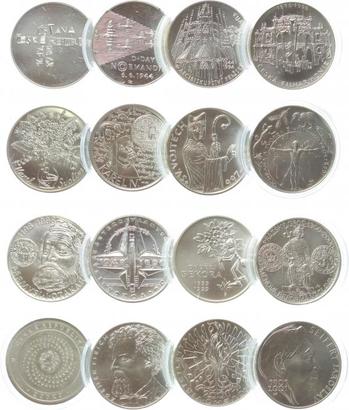 200 Kč - soubor 96 ks pamětních mincí České republiky položky