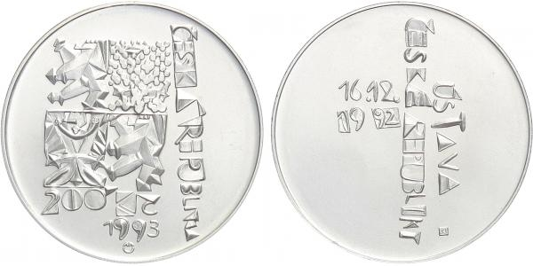 200 Kč 1993 - Ústava České republiky, běžná kvalita