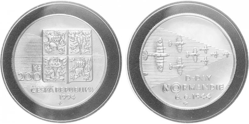200 Kč 1994 - Normandie, běžná kvalita
