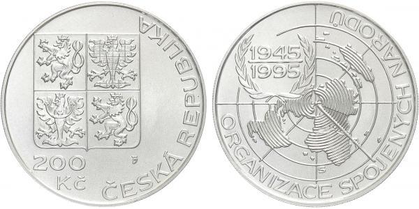200 Kč 1995 - OSN, bežná kvalita