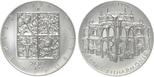 200 Kč 1996 - Česká filharmonie, běžná kvalita