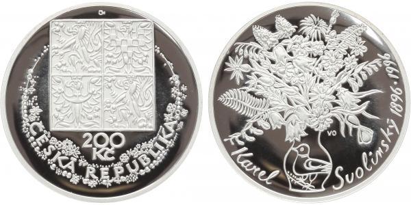 200 Kč 1996 - Karel Svolinský, PROOF