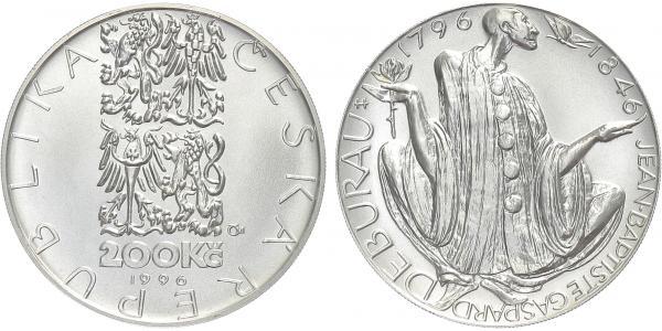 200 Kč 1996 - Jean-Baptiste Gaspard Deburau, běžná kvalita