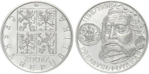 200 Kč 1998 - Přemysl Otakar I., běžná kvalita
