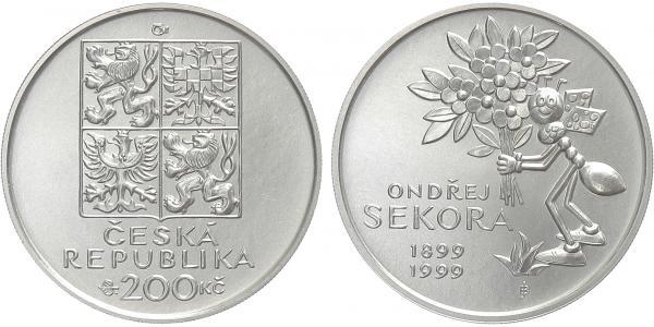 200 Kč 1999 - Ondřej Sekora, bežná kvalita
