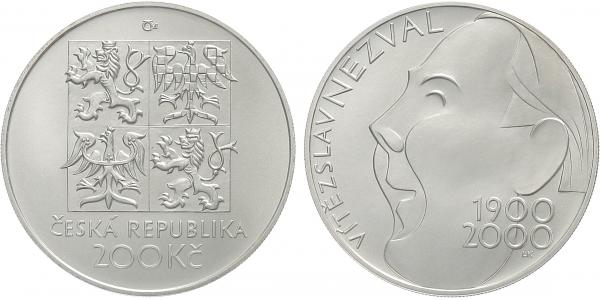 200 Kč 2000 - Vítězslav Nezval, bežná kvalita