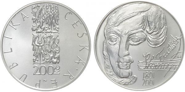200 Kč 2001 - František Škroup, bežná kvalita