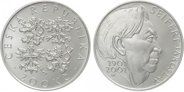 200 Kč 2001 - Jaroslav Seifert, bežná kvalita
