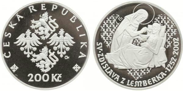 200 Kč 2002 - Zdislava z Lemberka, PROOF