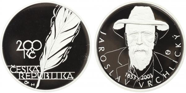 200 Kč 2003 - Jaroslav Vrchlický, PROOF