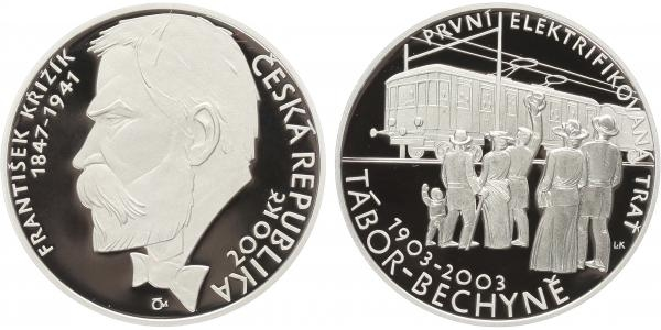 200 Kč 2003 - František Křižík, PROOF