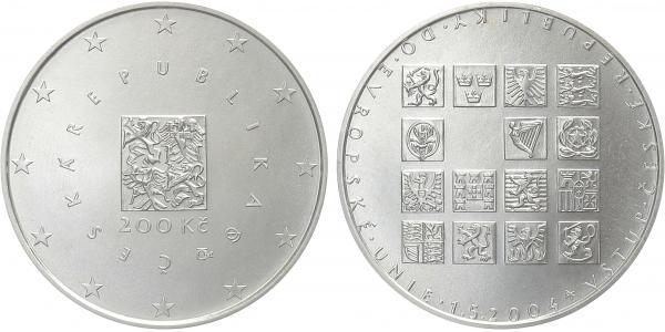 200 Kč 2004 - Vstup České republiky do EU, běžná kvalita