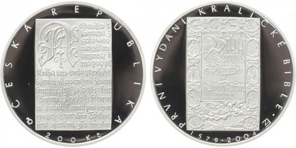 200 Kč 2004 - Bible Kralická, PROOF