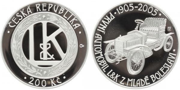 200 Kč 2005 - První automobil z Mladé Boleslavi, PROOF