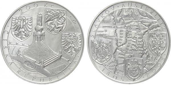 200 Kč 2005 - Bitva u Slavkova, běžná kvalita