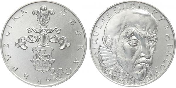 200 Kč 2005 - Mikuláš Dačický z Heslova, běžná kvalita