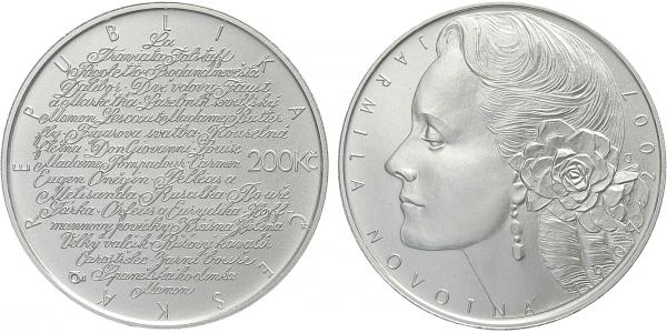200 Kč 2007 - Jarmila Novotná, běžná kvalita