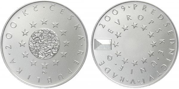 200 Kč 2009 - Předsednictví České republiky v Radě EU, běžná kvalita