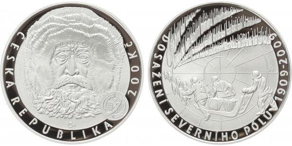 200 Kč 2009 - Dosažení severního pólu, PROOF