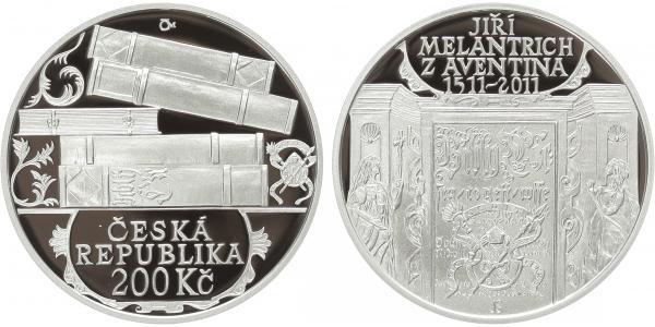200 Kč 2011 - Jiří Melantrich z Aventina, PROOF