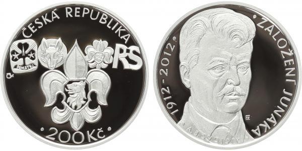 200 Kč 2012 - Junák, PROOF