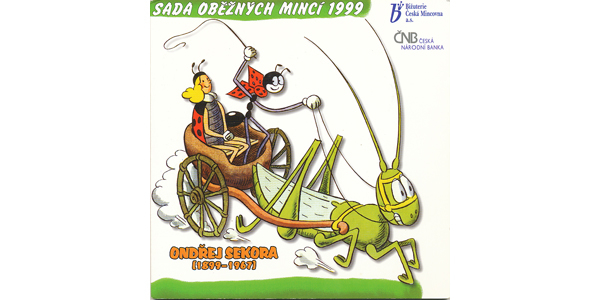 Ročníková sada mincí 1999 - Ondřej Sekora