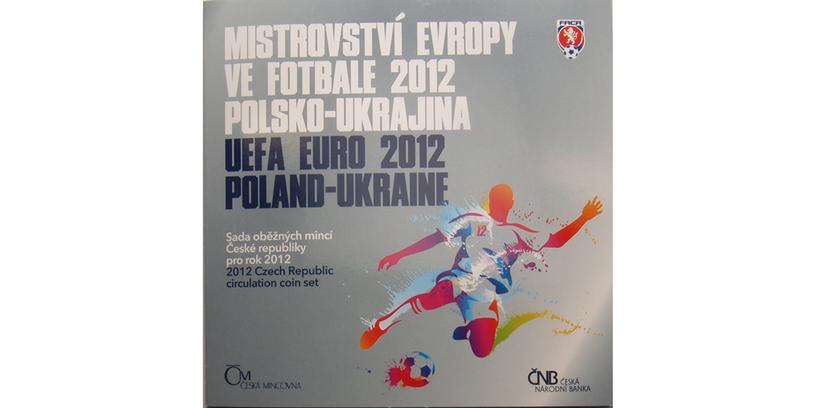 Ročníková sada mincí 2012 - MS ve fotbale Polsko - Ukrajina, bk