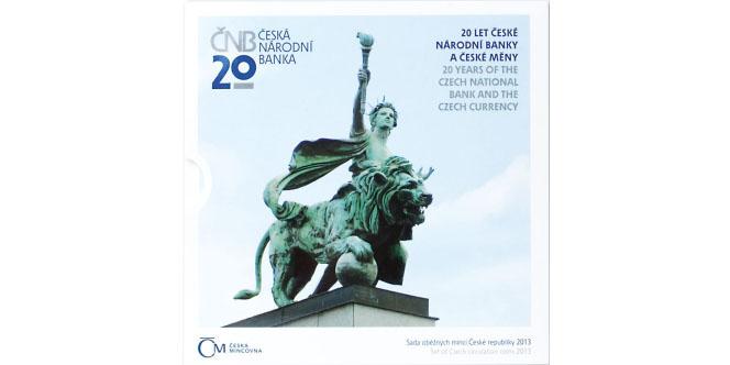 Ročníková sada mincí 2013- 20 let České národní banky a české měny, bk