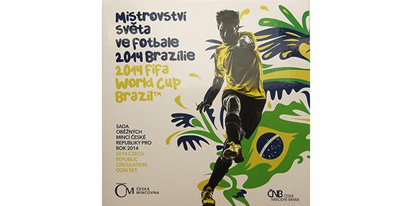 Ročníková sada mincí 2014 - Mistrovství světa ve fotbale 2014