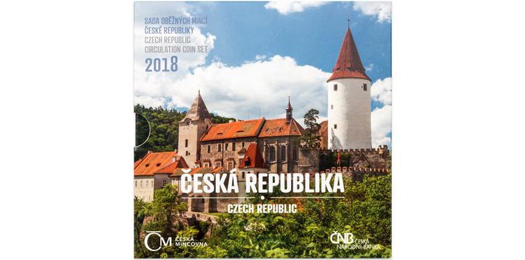 Ročníková sada mincí 2018 - Česká Republika, bk