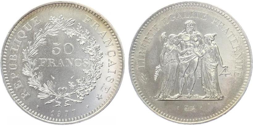 50 Frank 1977, Svoboda, rovnost, bratrství.
