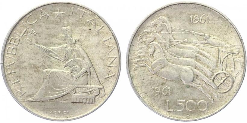 500 Lira 1961