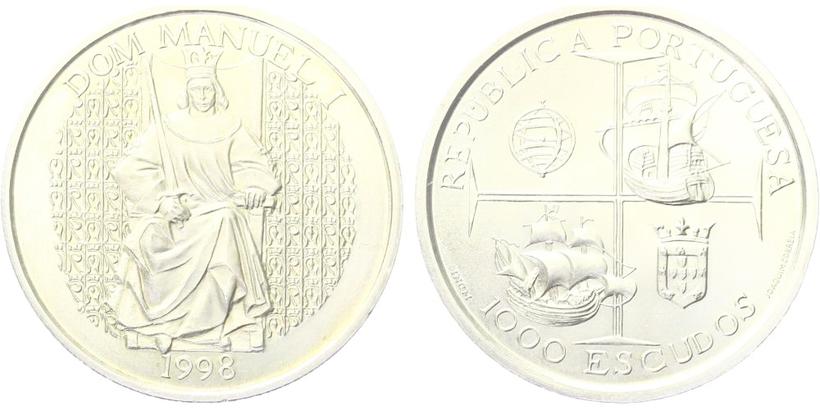 1000 Escudos 1998 - Manuel I., běžná kvalita