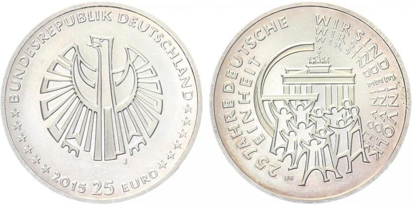 25 Euro 2015 - 25. výročí sjednocení Německa, běžná kvalita