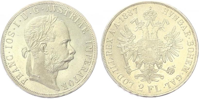 2 Zlatnik 1887