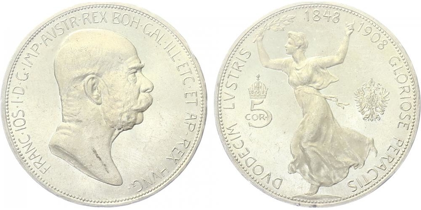 5 Koruna 1908 - jubilejní