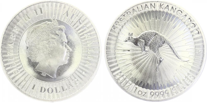 1 Dollar 2017 - Kangaroo, Ag 0,999 (31,10 g), 1 Oz, PROOF