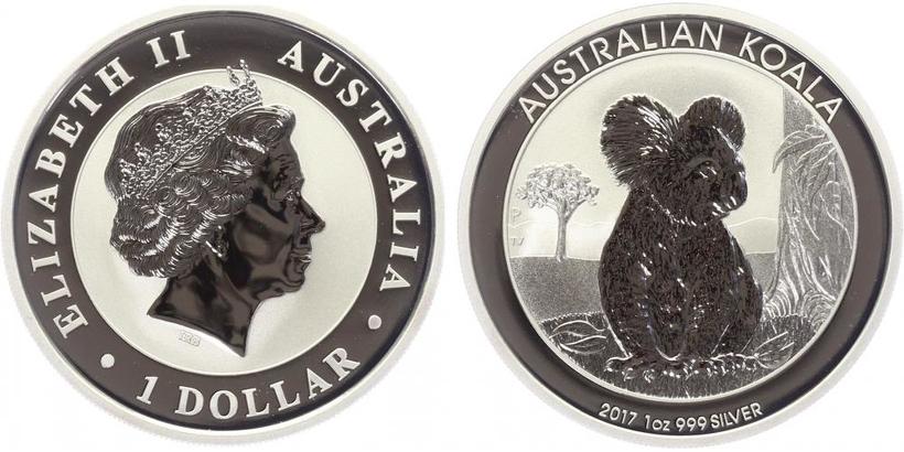 1 Dollar 2017 - Koala, Ag 0,999 (31,10 g), 1 Oz, PROOF