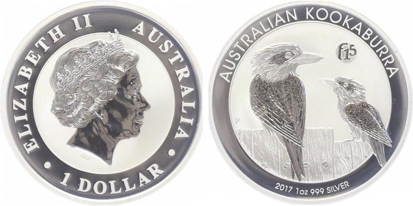 1 Dollar 2017 - Kookaburra, Ag 0,999 (31,10 g), 1 Oz, PROOF