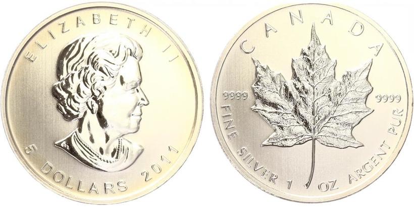 Maple Leaf, 5 Dollar 2011