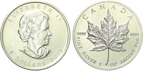 Maple Leaf, 5 Dollar 2013