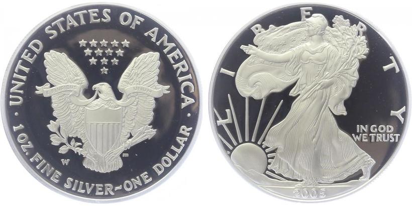 USA, 1 Dollar 2005 - Liberty, Ag 0,9993 (31,101 g), 1 Oz, PROOF