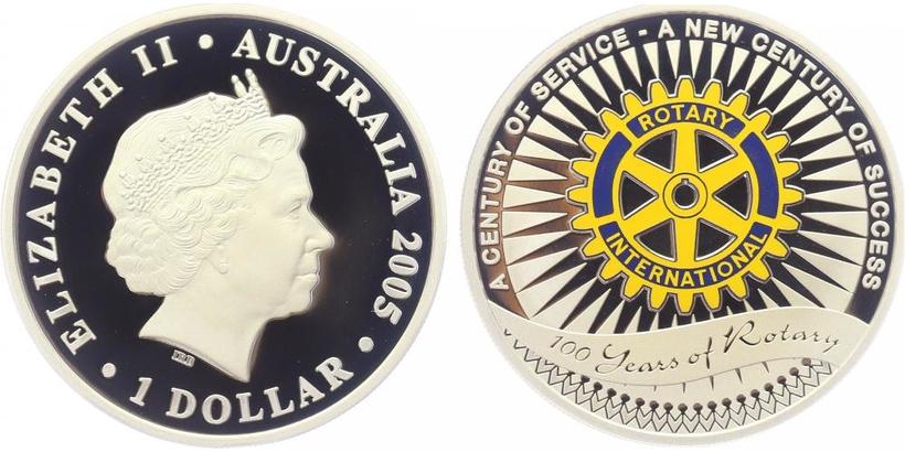 Dollar 2005 - 100. výročí Rotary klubu, PROOF