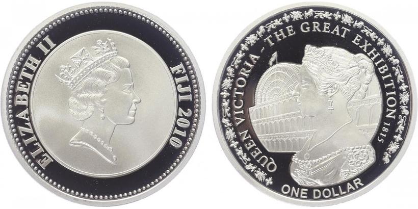 Dolar 2010 - Královna Viktorie - výstava 1815, PROOF
